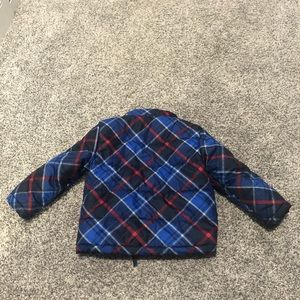 2T Red and Blue Plaid Winter Coat